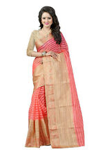 Bollywood Ethnic Designer Cotton Saree Party Wear Women Indian Pakistani Sari