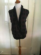 VINTAGE RALPH LAUREN WOMEN'S Plaid Hand Knit Sweater Vest Small