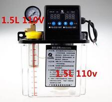 New 1.5L Dual Digital Display Automatic Lubrication Pump Oiler NC Pump 6mm 110V