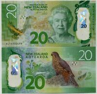 NEW ZEALAND 20 DOLLARS 2015 / 2016 POLYMER KAREAREA BIRD P NEW DESIGN UNC