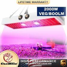 2000W LED W/ 2COB Full Spectrum LED Grow Light Indoor Plants Veg Flower Panel US