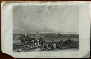 J. D. Harding Montpelier Small Antique Print