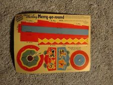 Post cereal premium circus paper doll - Merry-go-Round 1947  unpunched