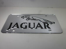Jaguar Chrome Mirror License Plate Auto Tag