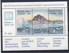 Greenland 1987 Hafnia Expo Souvenir Sht Birds #175 Mnh Cv $11 Free Ship after 1s
