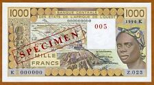 SPECIMEN West African States, Senegal, 1000 (1,000) Fr, 1990 P-707Ks UNC
