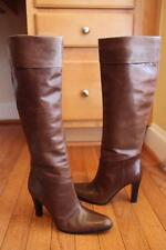 Gucci Women's Brown Leather High Knee Heel Boots Size 36.5 C (BOTA1300B