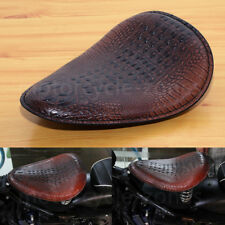 Brown Motorcycle Alligator Leather Solo Seat For Harley Sportster XL 1200 883 48