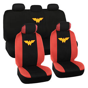 Wonder Woman Seat Covers for Car Full Set - Original Seat Cover Auto Accessory