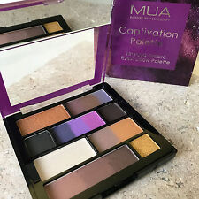 MUA CAPTIVATION Unita Sole Sfumati Eyeshadow Palette-opaca color Prugna metallico marrone Nude