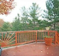 """Clear Deck Screen Balcony, Deck or Patio Fence Protective Barrier 180"""" x 35"""""""