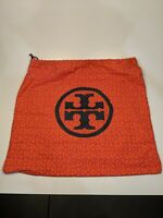 Tory Burch Dust Bag Medallion Logo Orange Pink Medium Size