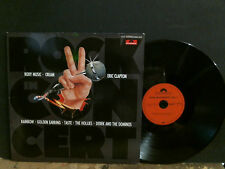 ROCK IN CONCERT  Various  DBL LP   Clapton Cream Taste Hollies etc  German.