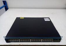 Cisco WS-C2960S-48LPS-L C2960S-STACK Module 48-Port Gigabit Ethernet PoE Switch