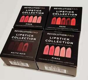 Revolution PRO 5 Lipstick Collection Pinks or Reds or Matte Noir BARE GIFT SET