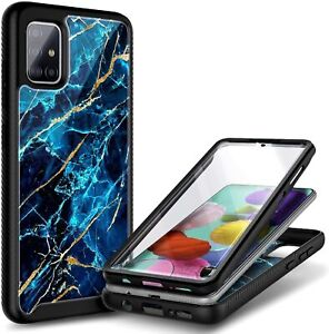 For Samsung Galaxy A31 Case, Full Body Phone Cover + Built-In Screen Protector