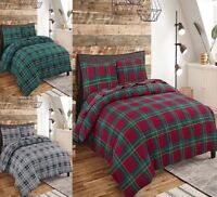 New Flannelette Thermal 100% Brushed Cotton Duvet Cover + PillowCase Bedding Set