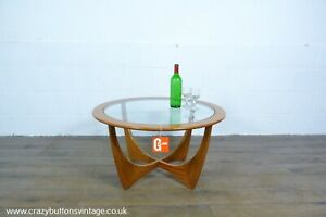 G Plan Astro Teak and Glass Round Coffee Table