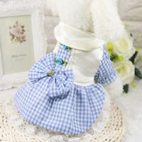 Small Pet Puppy Dog Cat Skirt Princess Bowknot Floral Dress Clothes Apparel US