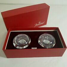 BACCARAT France Glass CAILLOUX Crystal Salt & Pepper Shakers Boxed