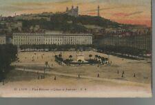 69 - CPA LYON - Place Bellecour et Coteau de Fourvière