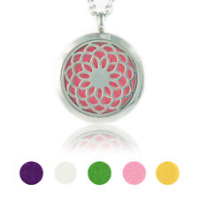 Aromatherapy Essential Oil Necklace Diffuser Stainless Steel Pendant Locket