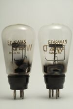 2x AT15 EDISWAN globe thoriated tungsten 4.0v DHT =LS5 GEC triode valve tube