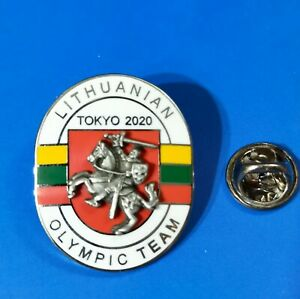2020 Tokyo Olympic Lithuanian Delegation Pin