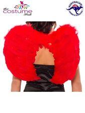 RED Adult Ladies Wings Halloween Devil Dress Up Angel Womens Costume