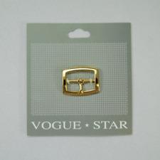 Vogue Star 22mm Gold Flat Profile Center Bar Buckle Belt Clothing Accessories