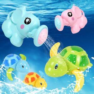 1Pc Bath Toys Ducha De Elefante Tortuga Juguete De Cuerda Con Cadena Enrollada