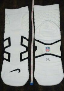 Dallas Cowboys NIKE NFL Team Issued White Compression Socks Men L-XL Ankle