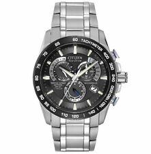 Citizen AT4010-50E Men's Eco-Drive Titanium Perpetual Atomic Timekeeping Watch