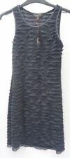 Sleeveless Party Dress by Apricot Flapper Style RaRa Charcoal Size XS