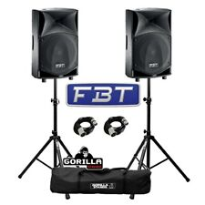 "FBT JMaxX 110A Active 900W 10"" DJ Disco PA Speaker (Pair) with Stands & Cables"