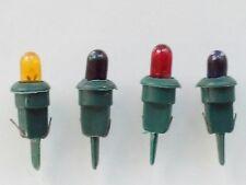 Lot 4 ampoules de rechange multicolores guirlandes de Noël basse tension NEUVES