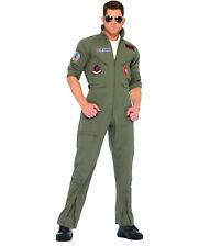 TOP GUN Flight Suit Costume, Mens X-Large, Leg Avenue Goose Maverick Khaki/Green