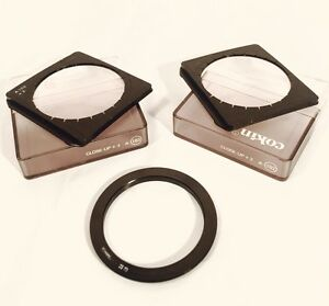 Set Of Three Camera Lens Filters Cokin A 102 103 Close Up +2 +3 52mm Ring