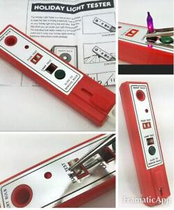 Christmas Tree Light Bulb Tester with Sound & LED Indicator. Holiday Light Tool