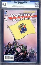 JUSTICE LEAGUE OF AMERICA  NEW 52  #1 NEW JERSEY COVER CGC 9.8 WHITE PAGES