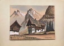 Hermann Richter Original Pastel Drawing on Paper, c.1920s