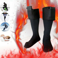 Battery Heated Electric Heating Long Socks Winter Feet Warmer Thermal With Putcr