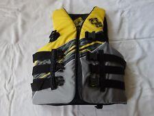 Body Glove Adult Method USCG Approved 4 Buckle Life Jacket Vest Yellow Black Lar