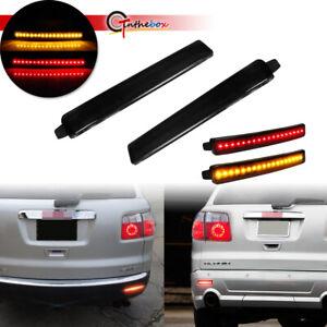 For 2009-12 Chevy Traverse Rear Bumper Reflectors Foglight Brake Tail LED Lights