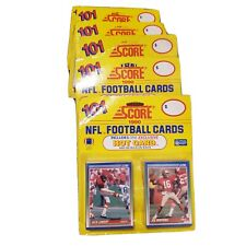 Score NFL Football Cards 1990 Hot Cards 101 Cards Per Pack 6 Packs