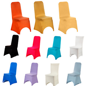 Spandex Dining Room Chair Covers Slip Cover Seat Stretch Removable Wedding Decor