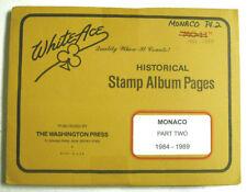 WHITE ACE - MONACO   PAGES PART 2 - 1984 / 1989    NEW     #WA-MONP2