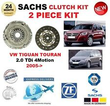 FOR VW TIGUAN TOURAN 2.0 TDi 4Motion 2005-> SACHS 2 PIECE CLUTCH KIT OE QUALITY