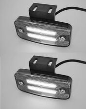 24V LED White Neon Side Marker Lights 2x Lamps Truck Trailer Lorry Chassis Bus