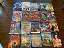 LOT Thirty (30) DVD's - Blue Ray Movies / Educational - Assortment Kids/Family